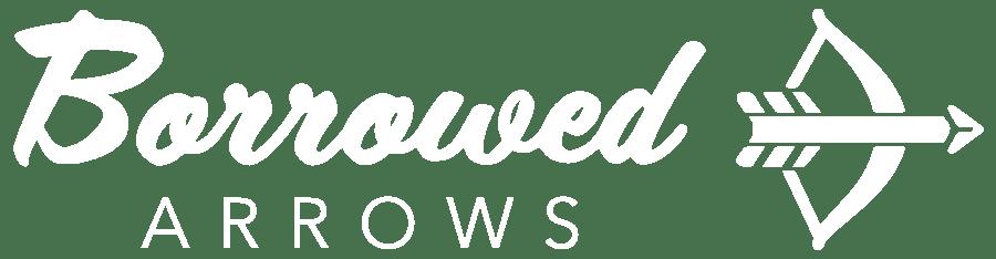 Borrowed Arrows Logo - White